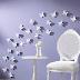 Duvarlara Kağıttan Kelebek Süslemeleri Yapımı