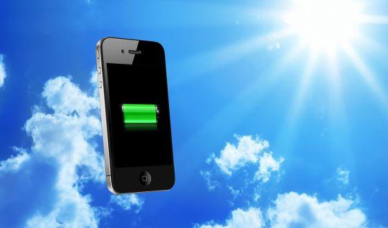 smartphone bateria celular energia solar movimiento
