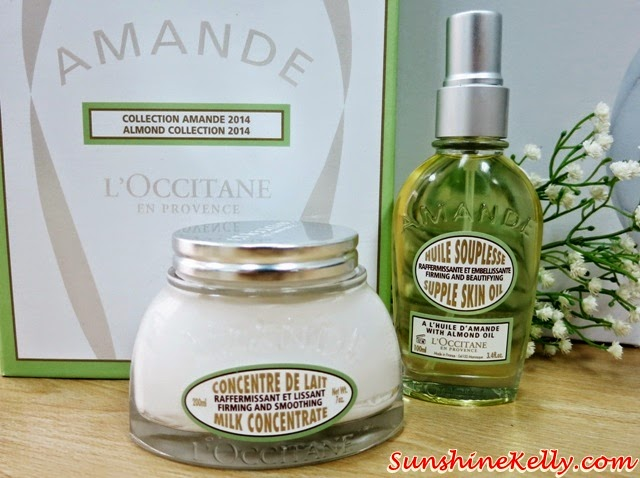 L'OCCITANE Almond Milk Concentrated, supple Skin Oil, Review: L'OCCITANE Almond Body Care, Redefine Your Curves, L'OCCITANE Almond Body Care, L'OCCITANE, firming, slimming, body care, almond collection,