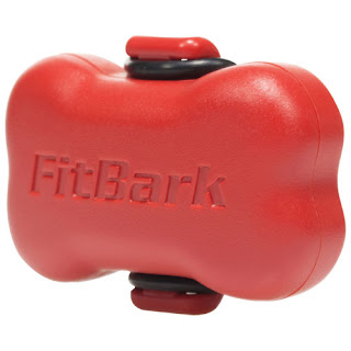 FitBark red bone-shaped dog activity monitor