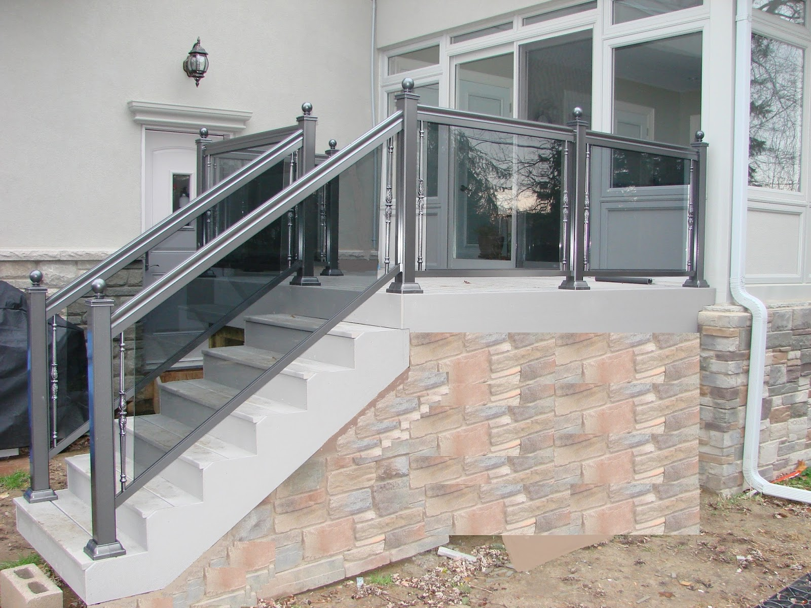 Glass Railings In Mississauga Brampton Vaughan Railings Vaughan Woodbridge Richmond Hill Gta