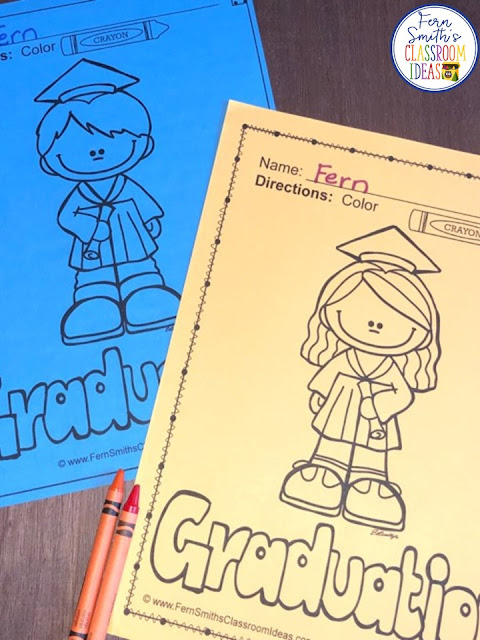 I LOVE Kindergarten graduation! Whether you celebrate as an entire grade level, or just in your classroom, it is a memory that parents and grandparents cherish forever! You can use these free Graduation Coloring Pages as an invitation to attend, or as a blank rolled up certificate to hand to your students to color later at home, saving the actual certificate to give to their parents later as a nice keepsake. These FREE End of the School Year Graduation Day Color For Fun Coloring Pages are my gift to you for another year of hard work, thank you teachers!