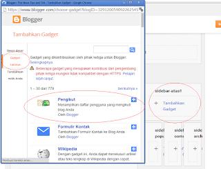 cara memasang widged pengikut blog