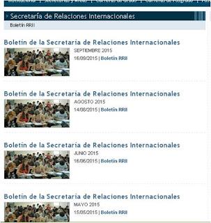 Boletines de Relaciones Internacionales