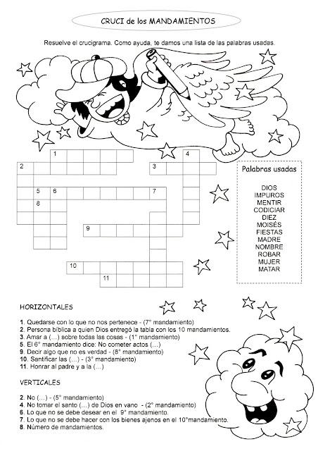 Moises Los 10 Mandamientos Dibujos Para Colorear Tabla