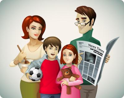 familia en vector