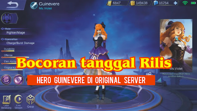 Tanggal Rilis Hero Guinevere di Original Server