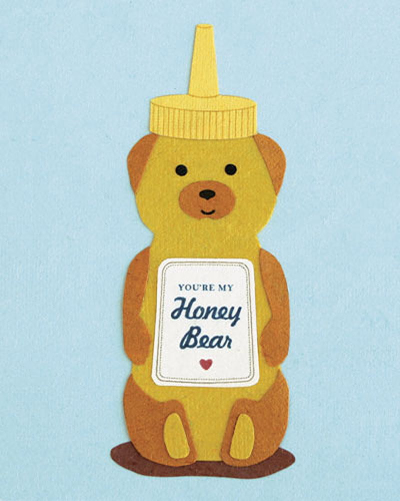 Honey Bear Recycled Greeting card from Branch Out