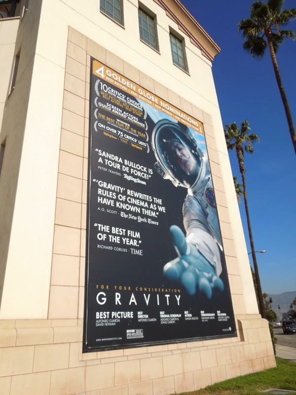 Gravity Golden Globe billboard