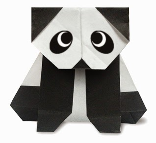 Origami Panda Instructions (Fumiaki Kawahata) - YouTube   290x318