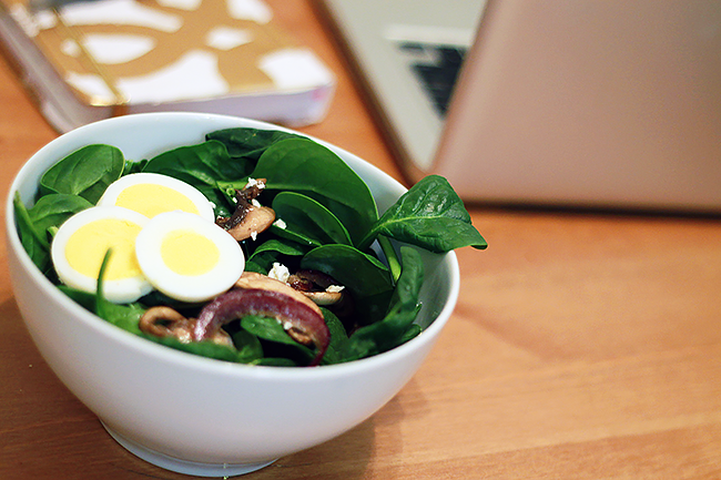 Healthy Spinach Salad with Creamy Citrus Dressing