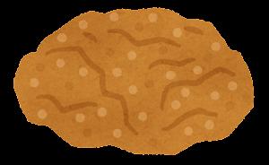 ハンバーガーの具材のイラスト(チキン)