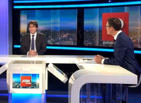 Puigdemont asegura que se fue a Bruselas para evitar la violencia en Cataluña