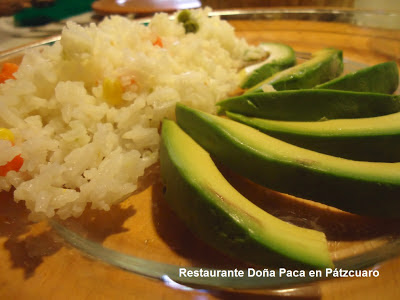 Avocado with rice