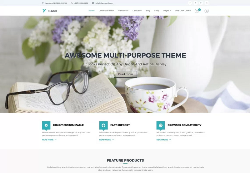 Flash MultiPurpose WordPress Theme
