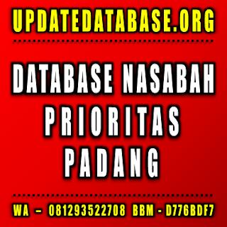 Jual Database Nasabah Prioritas Padang