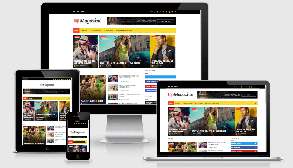 Top Magazine - Responsive Elegant & Beautiful Blogger Template