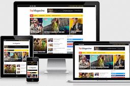 Top Magazine Responsive Elegant & Amp Beautiful Blogger Template Free Download