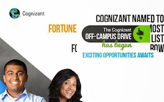 Cognizant Off-Campus for Freshers Engineer Trainee: BE / BTech: 2015 / 2016 Passout