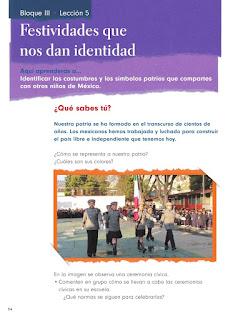 Apoyo Primaria Formación Cívica y Ética 1er grado Bloque 3 Lección 5 Festividades que nos dan identidad