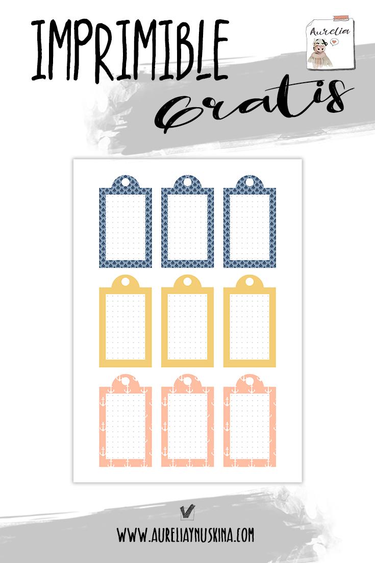 Etiquetas personalizables para imprimir gratis.