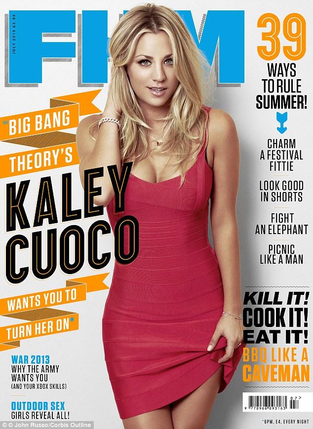 Kaley Cuoco Covers FHM UK Magazine July 2013