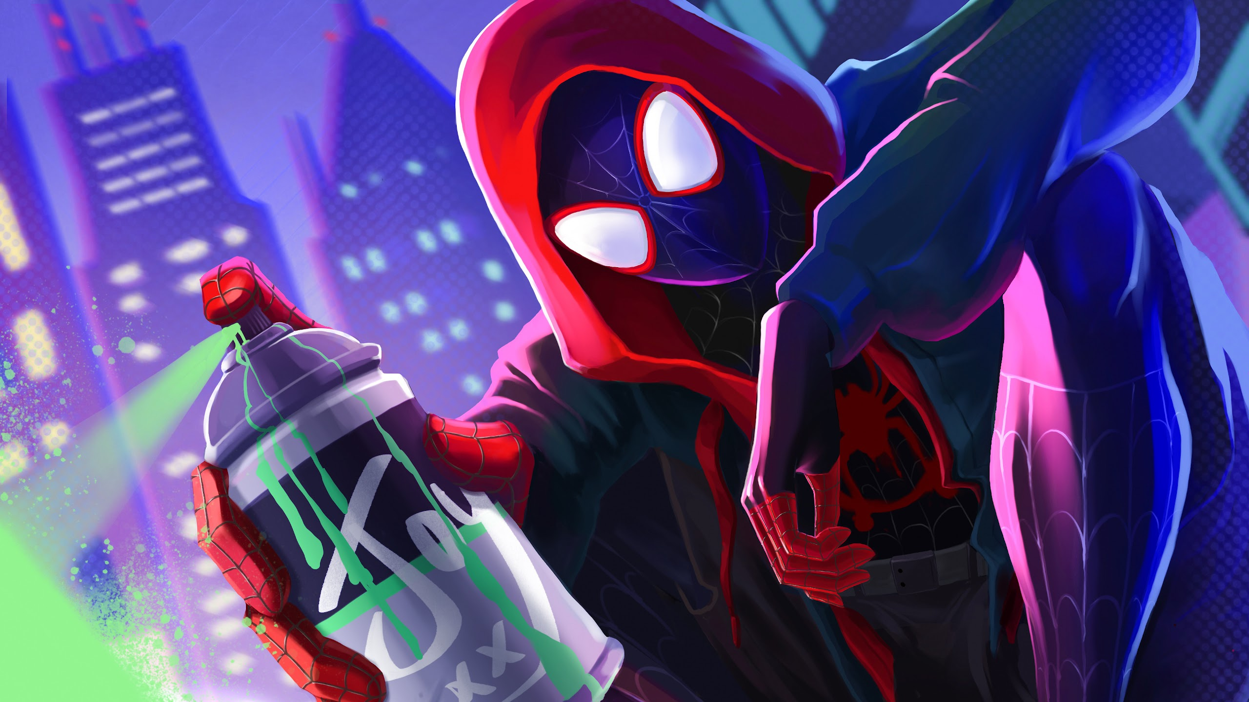 Miles Morales Spider Man Into The Spider Verse 4k Wallpaper 3
