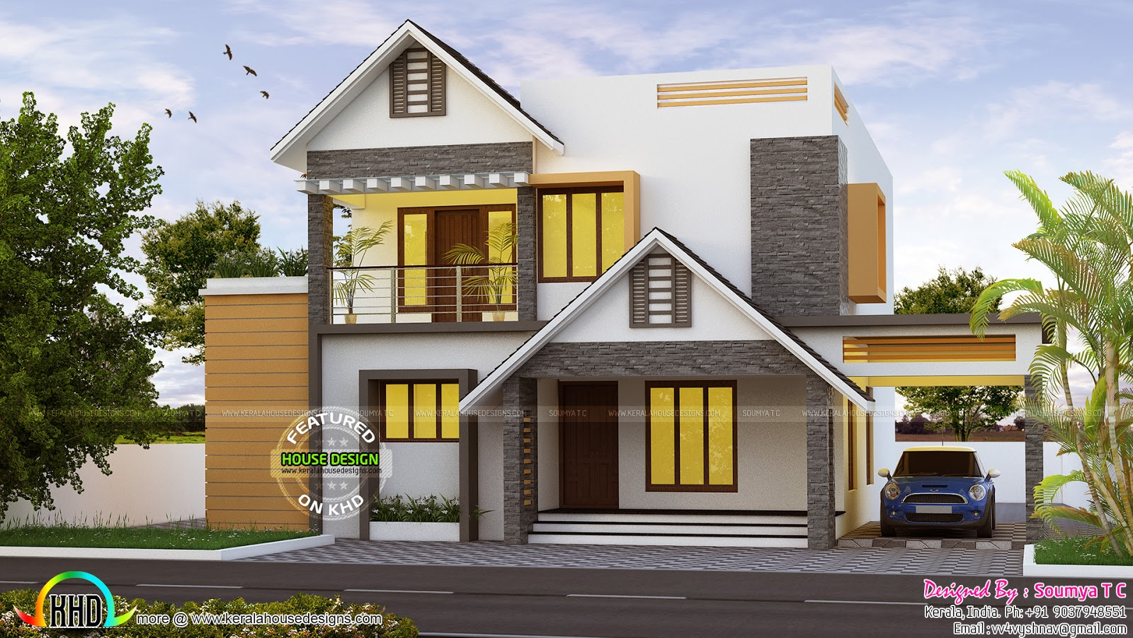 November 2016 kerala home design and floor plans for Kerala house designs and floor plans 2016