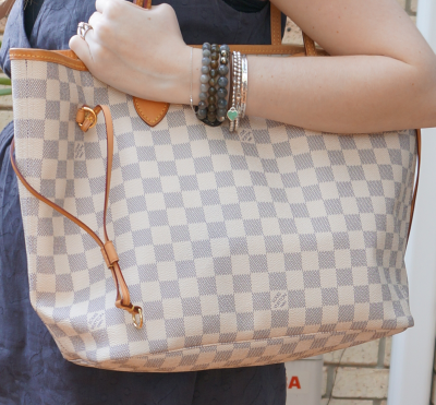 Away From Blue Louis Vuitton MM damier azur neverfull tote