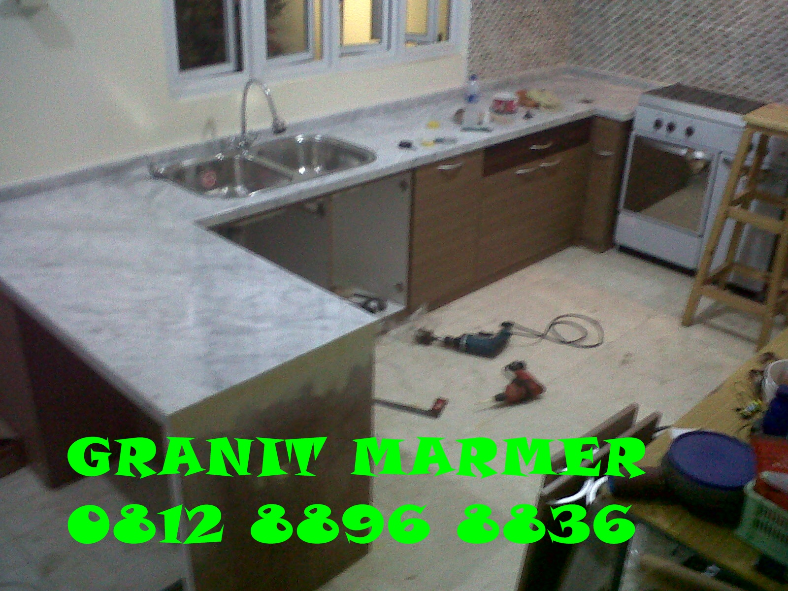 Meja Dapur Granit Marmer Dan Top Table Bekasi Kitchen Set