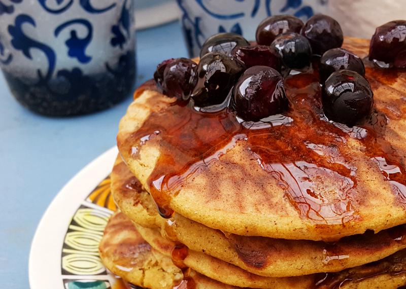 Vegan Fluffy Chai Quinoa Pancakes