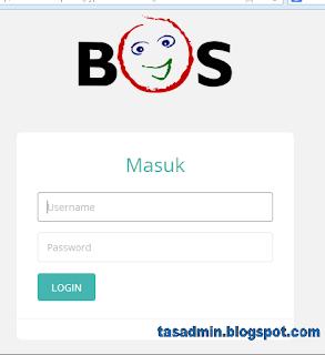 tampilan login lapor bos pusat online