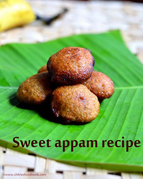 Sweet appam recipe using wheat flour & jaggery