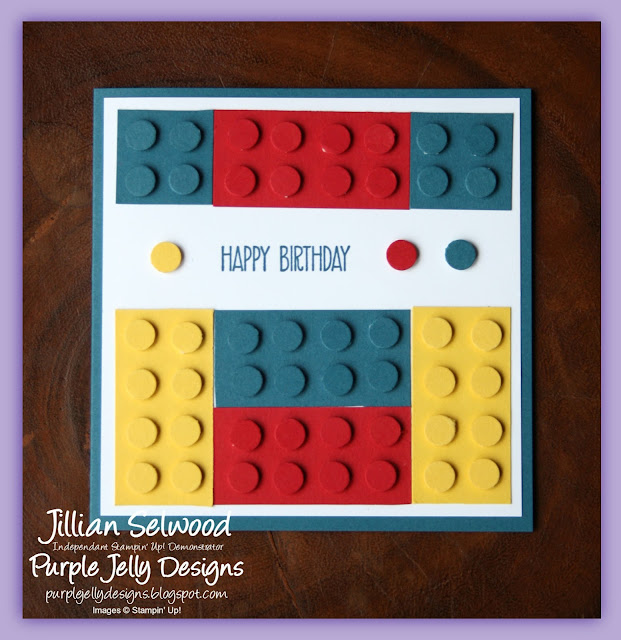Boys birthday card, Lego card