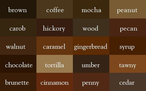 Types Of Brown