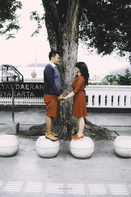 prewedding di jalanan yogyakarta