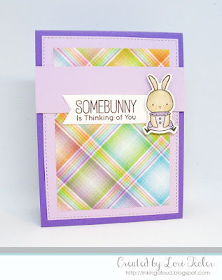 Somebunny Is Thinking of You card-designed by Lori Tecler/Inking Aloud-stamps and dies from My Favorite Things
