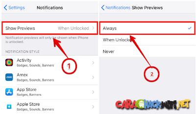 Berikut cara untuk selalu menampilkan pemberitahuan di layar iphone x yang terkunci