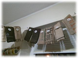 Kaffee-Adventskalender der Rösterei Rigano.