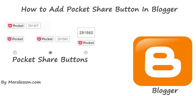 pocket button for blogger