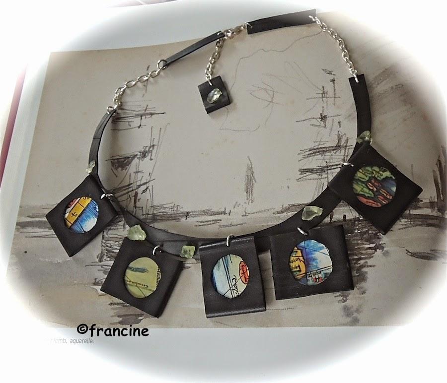 Francine bricole collier mers du sud en chambre air for Chambre air velo