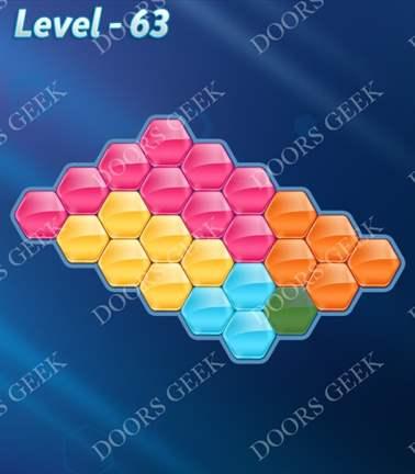 Block! Hexa Puzzle [5 Mania] Level 63 Solution, Cheats, Walkthrough for android, iphone, ipad, ipod