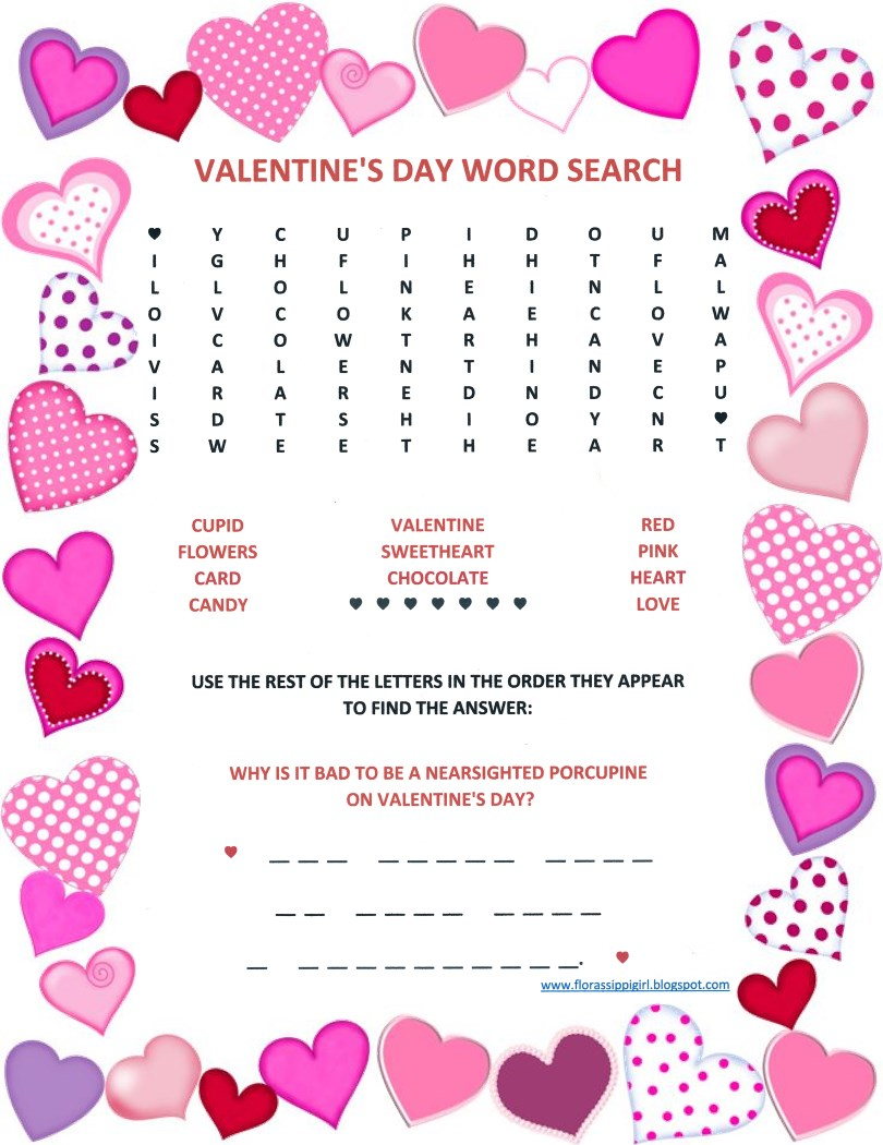 Florassippi girl valentines day word search free printable valentines day word search free printable ibookread Read Online