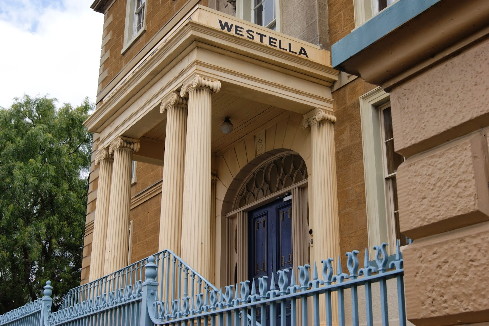 Westrella is a large colonial residence in the style of a Grecian Villa that is probably the finest remaining Georgian townhouse in Australia