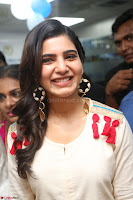 Samantha Ruth Prabhu Smiling Beauty in White Dress Launches VCare Clinic 15 June 2017 034.JPG