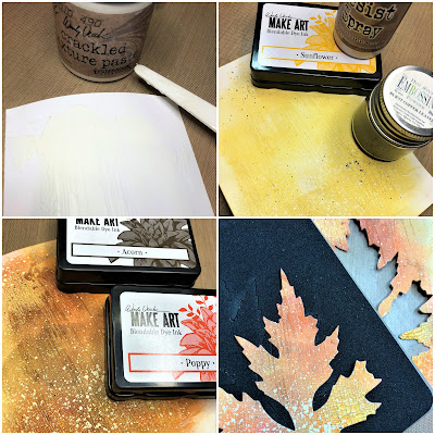 Sara Emily Barker Saturday Showcase Faux Bark and Leaf Tutorial for The Funkie Junkie Boutique #wendyvecchi #makeartblendabledyeink #timholtz #sizzixalterations #stampersanonymous 8