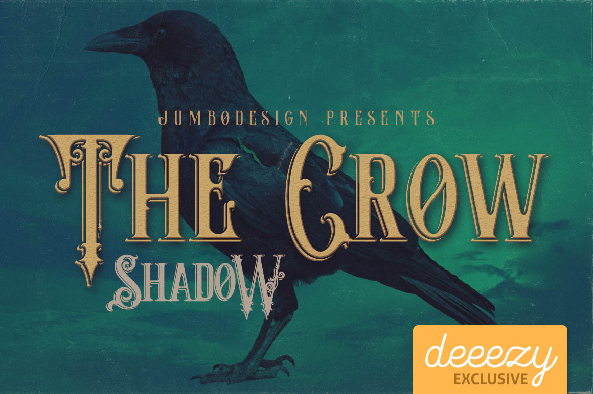 Download Font Terbaru 2016 - The Crow Shadow Font