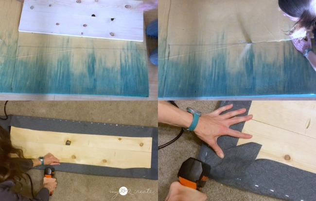 upholstering a bench top