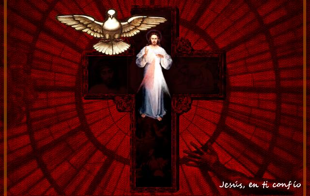 divina misericordia con el espiritu santo