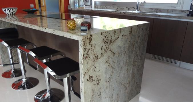Encimeras de cocina granito o cuarzo cocinas con estilo for Barra de granito para cocina precio